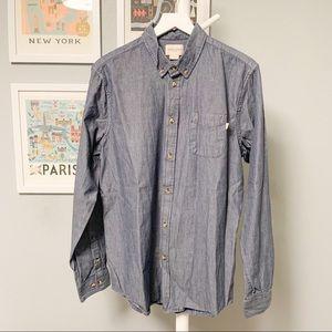 Obey Propaganda Striped Button-Down Shirt XL